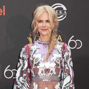 Gracias a un vestido de Valentino, Nicole Kidman consigue el mejor look de los últimos tiempos