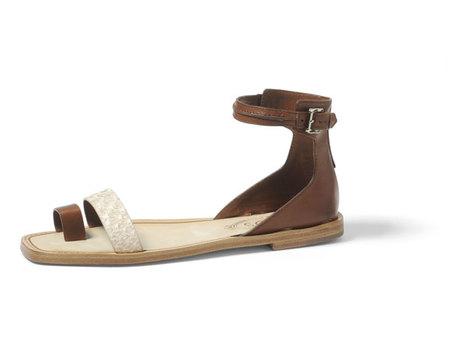 Tods-sandalia cuero marron