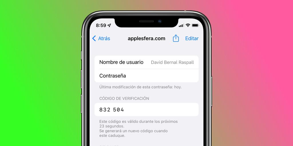 Así podemos generar códigos de doble factor en el llavero de vuestro iPhone u iPad con iOS™ quince