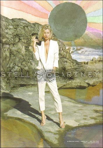 Kate Moss para Stella McCartney primavera-verano 2009, primera imagen