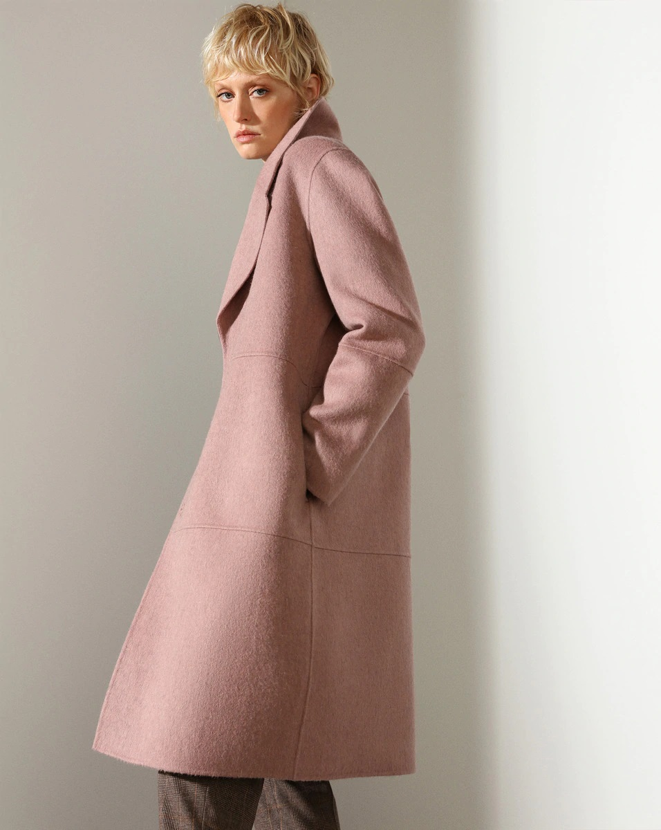 Abrigo estructurado rosa