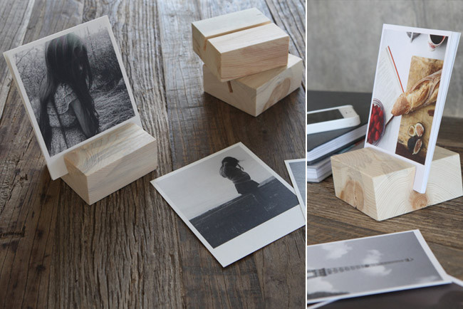 Portafotos de madera