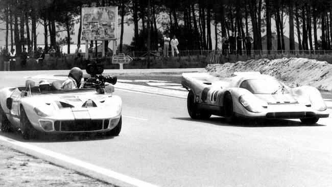 Rodaje de la película 'Las 24 horas de Le Mans'