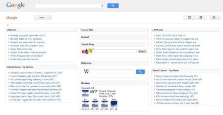 Google está probando una nueva interfaz para iGoogle