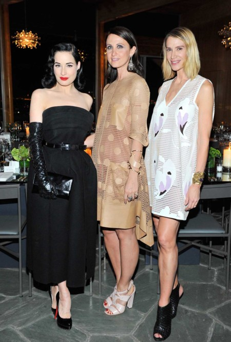 Dita Von Teese Alessandra Facchinetti And Kelly Lynch