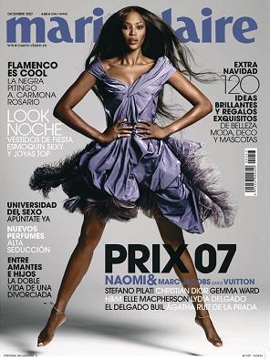 Naomi Campbell portada de la revista Marie Claire