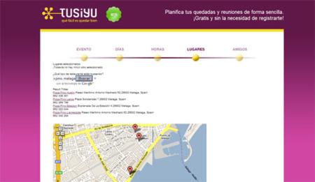 Tusiyu, planificación de encuentros de forma sencilla
