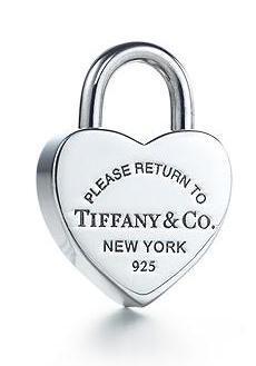 Tiffany Heart lock charm