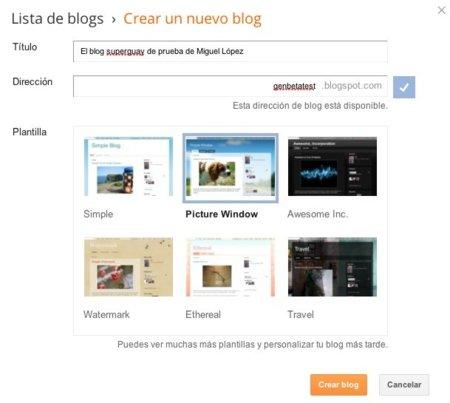blogger google nuevo blog