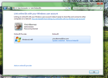 LiveID Windows 7