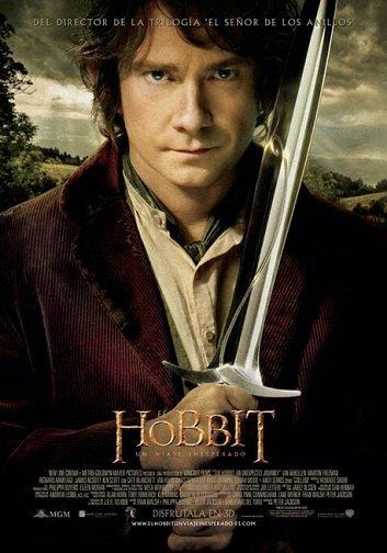 Imagen con el cartel de la película 'El Hobbit: Un Viaje Inesperado'