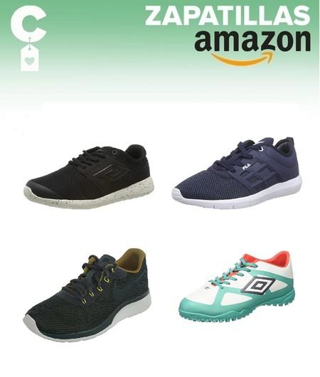 Ofertas por 20 euros o menos en tallas sueltas de zapatillas Nike, Fila o Umbro en Amazon