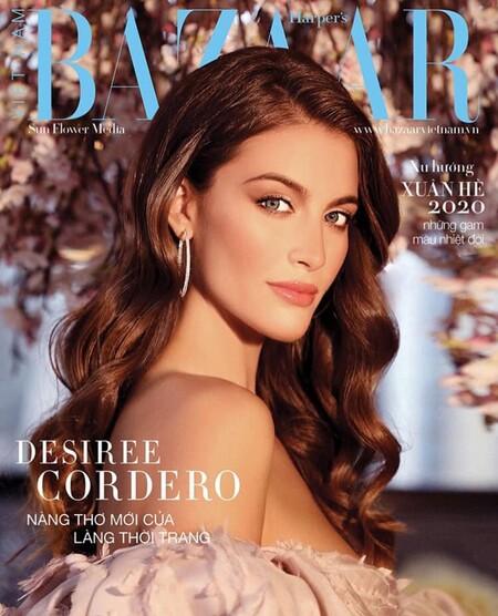 Desiré Cordero en Harper's Bazaar