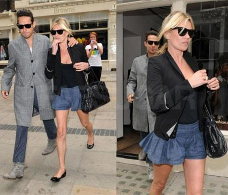 Kate Moss, la elegancia con shorts