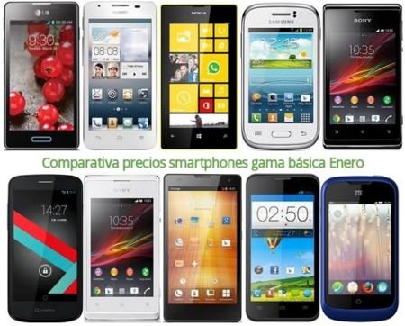 Comparativa precios Lumia 520, Galaxy Trend, Huawei Ascend G510, Xperia J, LG Optimus L5 II y otros gama básica en Enero de 2014
