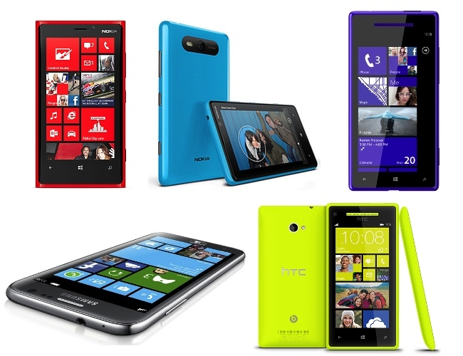 Comparativa teléfonos con Windows Phone 8
