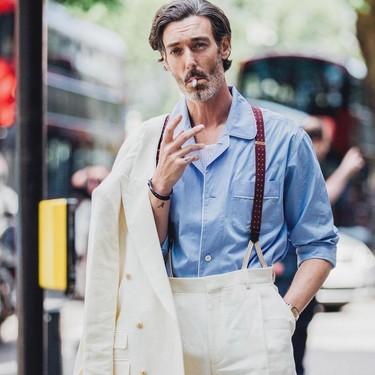 Richard Biedul fue el hombre mejor vestido (en la pasarela y la calle) de la Fashion Week de Londres