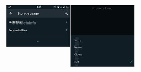 Whatsapp Uso Almacenamiento Beta App
