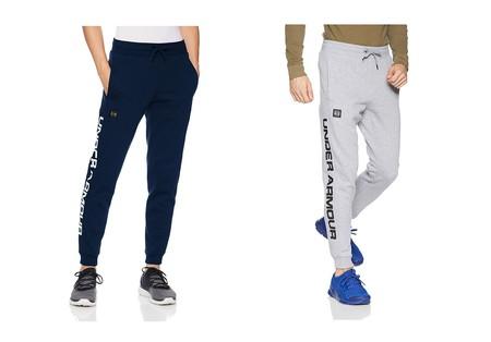 Desde 29,69 euros podemos estrenar unos  pantalones deportivos Under Armour Rival Fleece Script Jogger gracias a Amazon