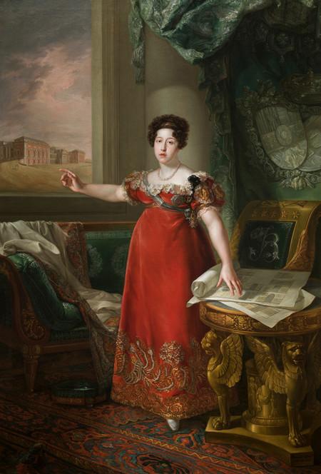 María Isabel de Braganza como fundadora del Museo del Prado Bernardo López Piquer Óleo sobre lienzo, 258 x 174 cm 1829 Madrid, Museo Nacional del Prado