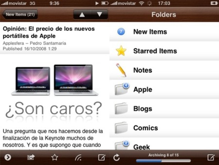 Byline, interesante lector de Feeds para el iPhone