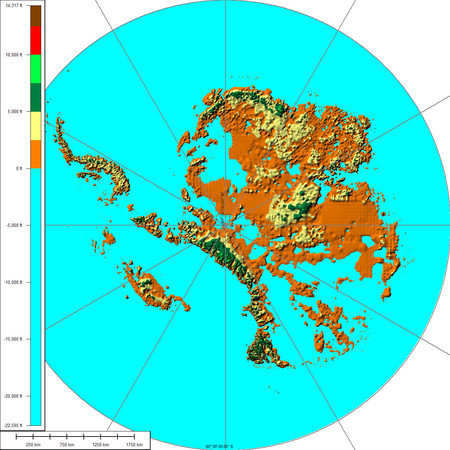 Antártida sin hielo