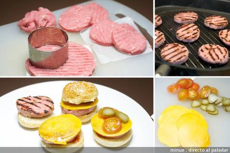 Mini hamburguesas de pavo - elaboración