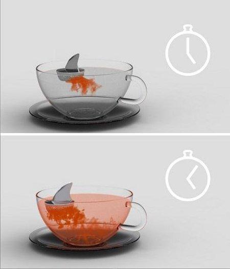 Infusor con forma de tiburón