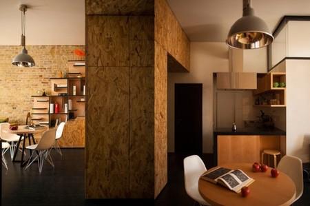 pequeño loft cocina