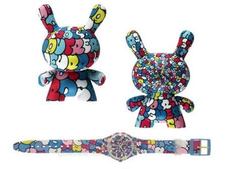 Swatch colabora con Kidrobot: reloj y art-toy a juego