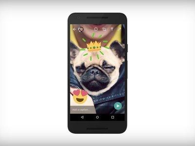 Los stickers y dibujos llegan a las fotos y vídeos de WhatsApps; sí, muy al estilo Snapchat