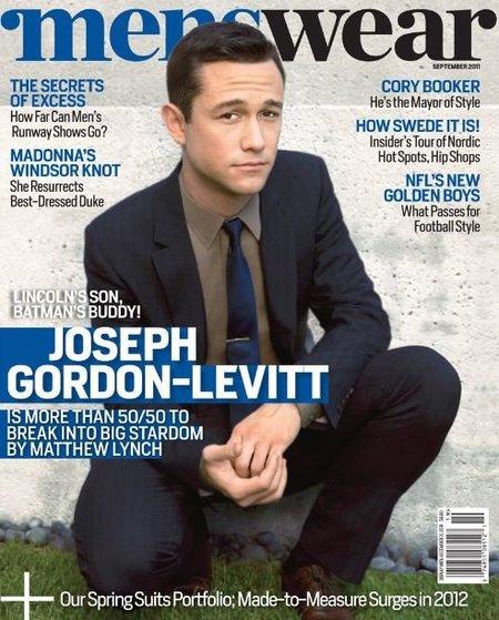 Joseph Gordon Levitt en la portada de la revista 'Menswear'