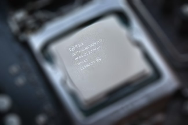 Intel CPU blurred