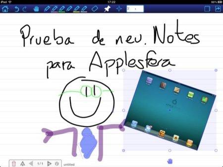 neu.Notes, vista general e inserción de imágenes