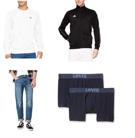 Chollos en Amazon: chaquetas Adidas y pantalones Levi's en tallas sueltas al mejor precio