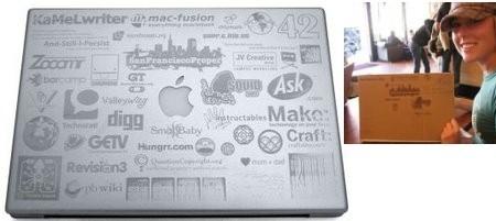 Leah Culver consigue un MacBook Pro a base de publicidad en la cubierta