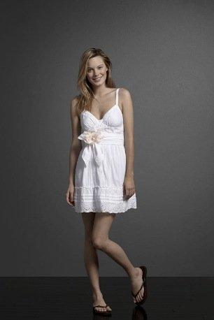 Abercrombie Fitch vestido blanco
