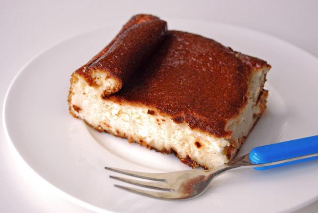 Pastel de yogur sin lactosa