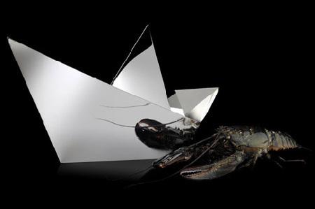 Barco de papel, de plata