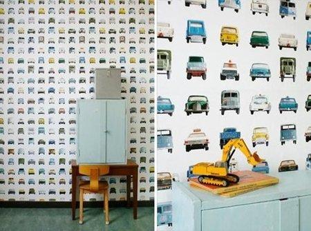 Papel pintado para la habitación infantil de Studio Ditte