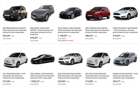 Amazon se apunta al renting de coches en España con entrega a domicilio, seguro a terceros y hasta 48 meses