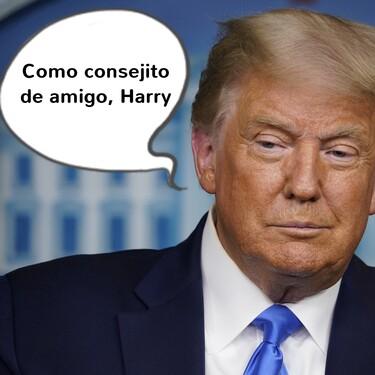 Donal Trump tiene algo que decirte, Príncipe Harry: ¿quieres abrir el sobre? (aunque a Meghan Markle no le va a hacer mucha gracia)