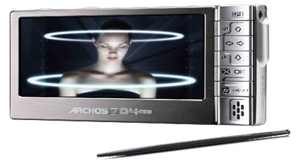 Archos AV704, posible reproductor con pantalla táctil