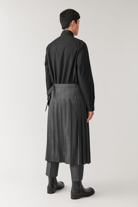 Cos Wool Kilt Men Skirt Fall Winter 2019 Trend