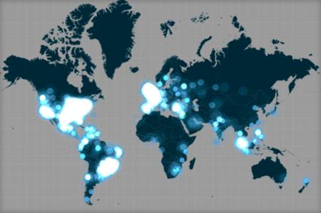 Con este mapa interactivo podrás ver cómo se vivió en Twitter la Keynote de Apple