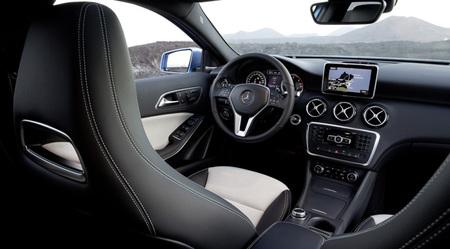 Vista interior del Mercedes Clase A
