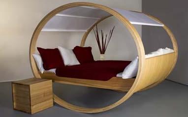 Cama circular para ambientes modernos