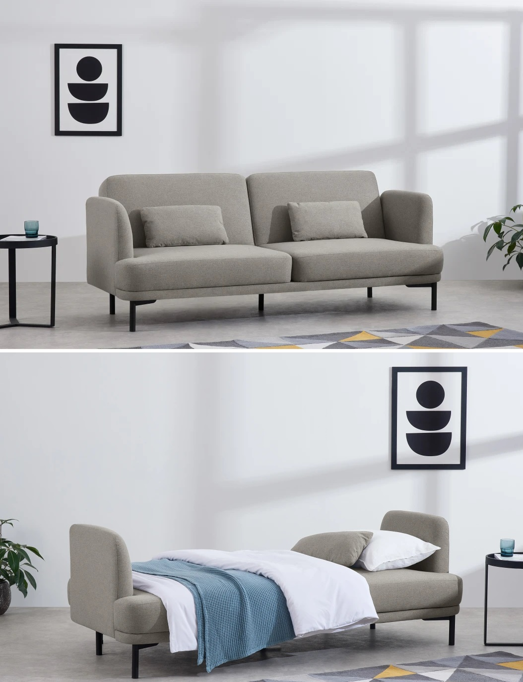 Sofá cama desmontable
