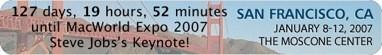Widget cuenta atrás para la MacWorld'07