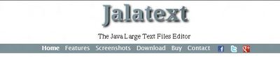 Jalatext: The Java Larger Text File Editor
